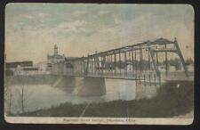 POSTCARD NAPOLEON OH/OHIO LONG STEEL SPAN RIVER BRIDGE 1907