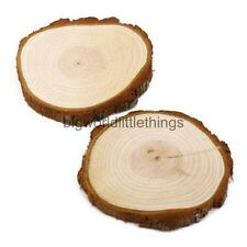 10 Round Wood Log Slices Natural Tree Bark Table Decor Wedding Centerpiece