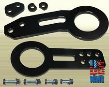 Black JDM Aluminum Front+Rear Tow Hook Kit for Mitsubishi Eclipse 3000GT GTO