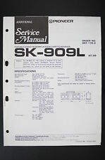 PIONEER SK-909L Original ADDITIONAL Service-Manual/Schaltplan/Diagram o20
