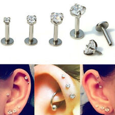 16G Round Tragus Lip Ring Ear Stud Earring Body Cartilage Piercing Jewelry 4mm