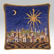 EHRMAN 1995 STARRY NIGHT CUSHION NEEDLEPOINT TAPESTRY KIT by CANDACE BAHOUTH