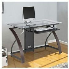 Claremont Desk w/ Pull-out Keyboard Tray, Real Wood Veneer In Mocha Finish