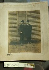Men in Suits Posing Against Building Framed Cabinet Card Photo Sepia 2 24 07 HS