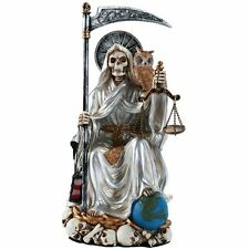 Mexico Santa Muerte Saint of Holy Death Purification Figurine Scythe and Scale