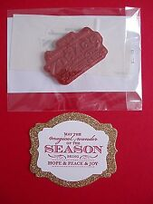 """NEW Stampin' Up """"Magical Season"""" RETIRED Single Stamp"""