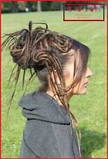 Brown Mix Dread Fall Hippie Tribal Steampunk Burning Man Hair piece Dread Wig