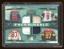 QUAD GAME JERSEY RC CONNOR McDAVID-GRETZKY-HOWE-SIDNEY CROSBY