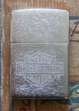 AUTOMOTIVE HARLEY DAVIDSON ETCHED LOGO ZIPPO LIGHTER FREE P&P FREE FLINTS