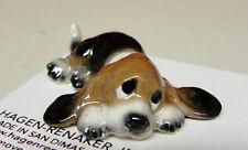 ➸ HAGEN RENAKER Dog Miniature Figurine Basset Hound Puppy Lying