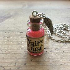 fairy dust necklace Handmade Bottle Pink Glitter Party Gift Cute Birthday Easter