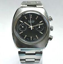 Vintage  Bulova 666 Feet  Deep Sea  Chronograph Diver Mens Watch N1 Valjoux 7733