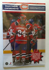 MONTREAL CANADIENS 16 MONTH 2009 POSTER CALENDAR NHL HOCKEY