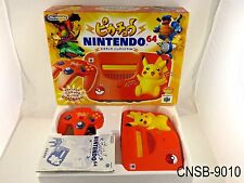 Boxed Nintendo 64 Pikachu Orange Yellow Japanese Import System N64 Console CIB B