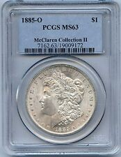 1885-O $1 Morgan Silver Dollar. PCGS Graded MS 63. Lot#1871