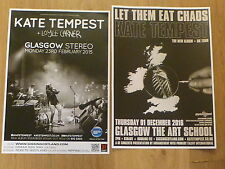 Kate Tempest - Scottish tour Glasgow concert gig posters x 2