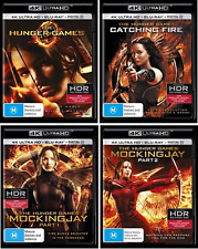 The Hunger Games COLLECTION : 4K Ultra HD (UHD + UV) Blu-Ray NEW