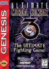 Ultimate Mortal Kombat 3 Sega Genesis Complete Free Tracking+Shipping