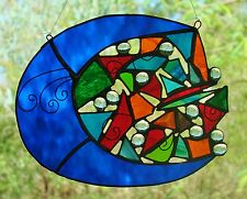' MOON MOJO' Stained Glass Lightcatcher ONE OF A KIND CHRISTMAS GIFTS Suncatcher