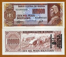 Bolivia, 5 centavos on 100,000 Pesos Bolivanos, ND (1987), P-196A, UNC   ERROR