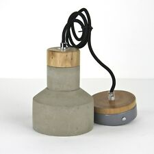 Mini concrete industrial cement pendant hanging bedside lamp light modern