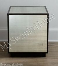Dazzling HORCHOW Bunching Cube Mirrored Table End Cee Cee Mirror Neiman Marcus