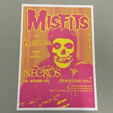 MISFITS + NECROS - CONCERT POSTER - GRAYSTONE HALL DETROIT 29TH OCTOBER (A3 SIZE