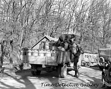 Unloading Milk Cans, Battle Ground, Indiana - 1937 - Historic Photo Print