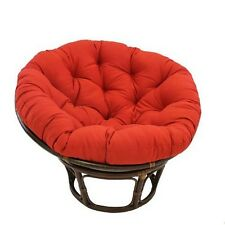 International Caravan 3312-TW-RR 42-Inch Rattan Papasan Chair with Solid Twill C