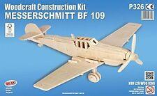 MESSERSCHMITT BF109 Woodcraft Construction Kit- Airplane 3D Wooden Model Puzzle