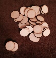 50 x  Round Circle Bases 3 Mm Laser Cut Mdf 50X 50Mm Wargames bolt action