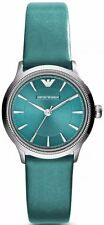 Emporio Armani Green (Teal) / Silver Quartz Analog Women's Watch AR1804
