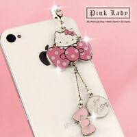 ip477 Cute Hello Kitty Dust Proof Phone Plug Cover Charm For iPhone Smart Phone