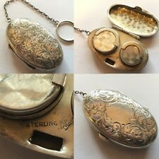 Vintage .925 Sterling Silver Coin Purse Pouch w/ Ornate Engravings - 25.9 Grams