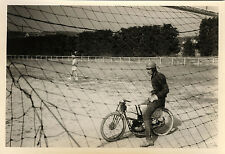 PHOTO ANCIENNE - VINTAGE SNAPSHOT - SPORT MOTOBALL MOTOCYCLETTE - MOTORCYCLE