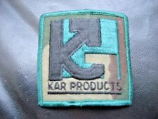 "KAR PRODUCTS EMBROIDERED SEW ON PATCH ADVERTISING COMPANY 2 3/4"" square"