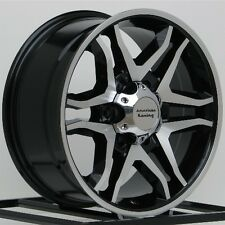17 Inch Black Wheels Rims Hummer H3 H3T Chevy Colorado GMC Canyon 6x5.5 6 Lug