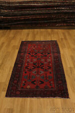 Foyer Tribal Hand Knotted Hamedan Persian Oriental Area Rug Carpet 3'5X6'5