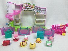 Shopkins Supermarket LOT with 8 Figures, Baskets & Shopping Cart Free Shipping