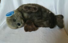 "Realistic Stuffed River Otter Purr-fection By MJC 14"" in length with tag"
