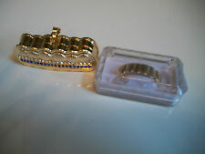 Gold finish Grill For Bottom Teeth Hip Hop  Mouth Grillz With Holder & Box
