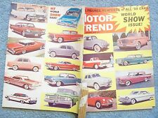 1959 JANUARY MOTOR TREND MAGAZINE FACTS FIGURES FEATURES OF ALL '59 CARS WORLD S