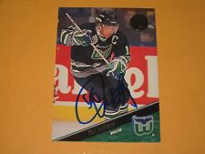 PAT VERBEEK AUTOGRAPHED 1993 THE LEAF SET CARD-WHALERS