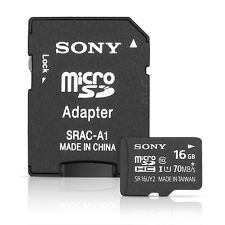 Sony 16GB MicroSDHC UHS-1 Memory Card w/ MicroSD Adapter - Class 10 Up to 7