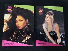 1990'S SUPER STARS ROCK EXPRESS DEBBIE GIBSON & JANET JACKSON TRADING CARDS