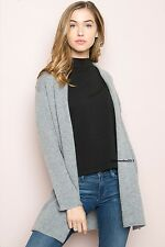 New! Brandy Melville super soft gray wool AUBRIE cardigan NWT