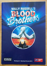 Blood Brothers programme Edinburgh Playhouse theatre 2013 Maureen Nolan