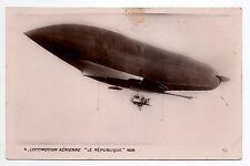 AVIATION Aérostation ballon dirigeable LE REPUBLIQUE Locomotion aérienne 1908