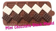 Mini Chocolate Block Bar Silicone Mould Mold Ice Tray Cake Decorating