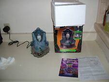 LEMAX SPOOKY TOWN HAUNTED FOUNTAIN SKULL HEAD W MIST & LIGHTS. COMPLETE!